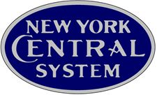 New York Central Railroad Logo. NYC Railroad was part of one of the oldest railroads in the U.S. Grand Central Station in New York City was its major terminal.