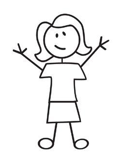 Stick Woman Figure Adult Female Stick Figure Decal Ms