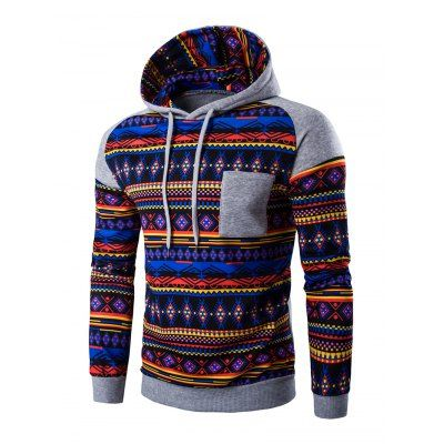 Ethnic Style Printed Hoodie-14.85 Online Shopping| GearBest.com