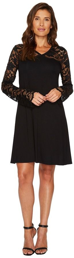 Karen Kane Scallop Lace Contrast Dress Women's Dress