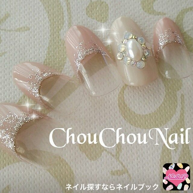 ネイル 画像 Nail Room♡Chou Chou(シュシュ) 三郷 1397685 アースカラー ビジュー フレンチ オフィス パーティー デート 春 秋 冬 ブライダル 入学式 卒業式 ハンド
