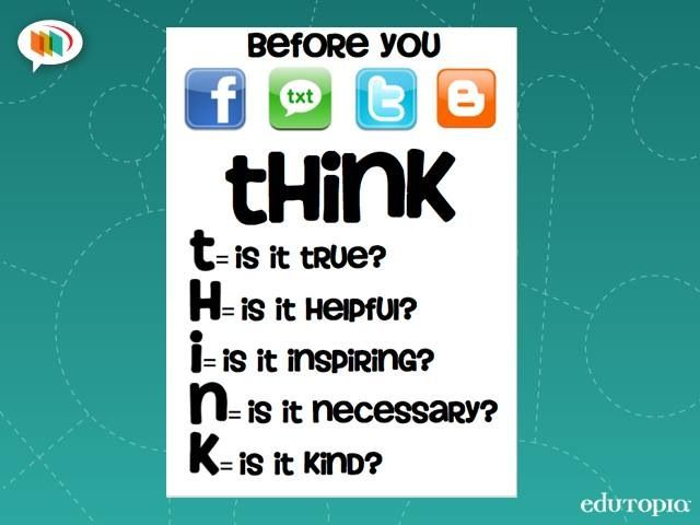 Before you say anything in the group, consider....