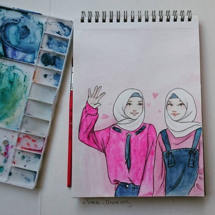Hijab Drawing 466 Begenme 13 Yorum Instagram Da أسماء اليوسف