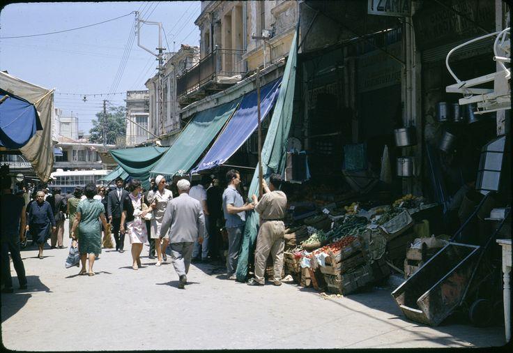 Downtown Iraklion(Crete) market, June 1967