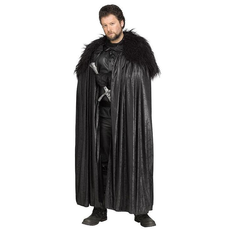 Adult Game of Thrones Jon Snow Cape, Multicolor