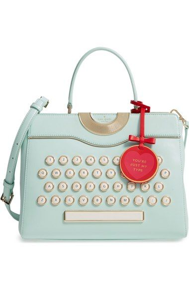 Main Image - kate spade new york be mine - typewriter leather satchel