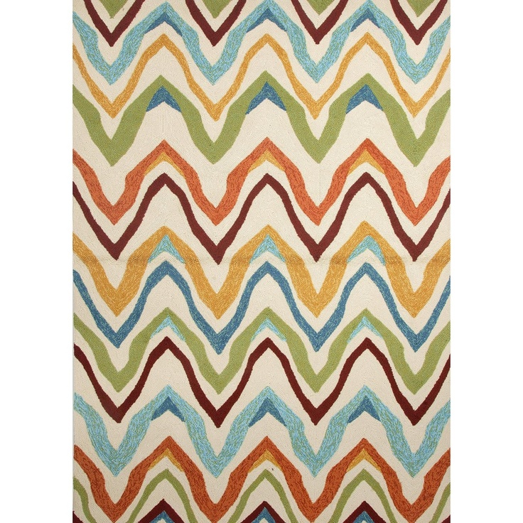 Solid Multi Color Indoor/ Outdoor Rug