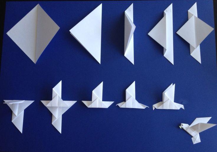 tuto origami colombe