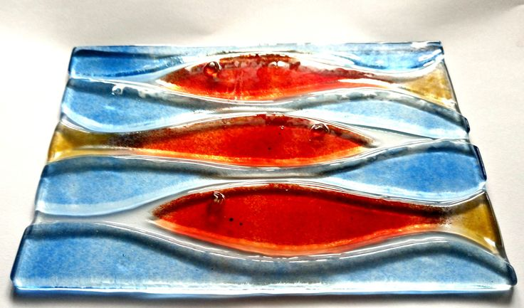 ...waiting for a proper frame! fused glass