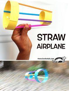 Strohhalm-Flugzeug