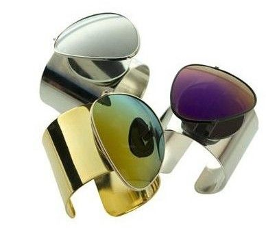 Fashion from recycled sunglass lenses - Cuffs.