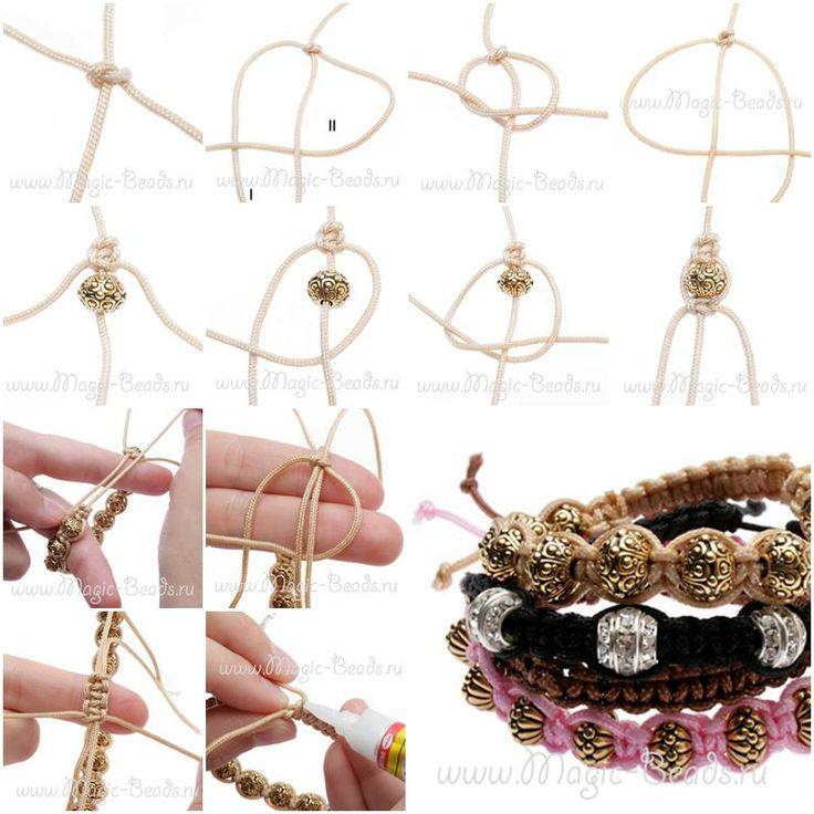 How To Make Shambhala Bracelet Step By DIY Tutorial Instructions