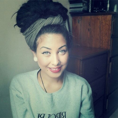 Pinning this for the scarf / turban but omg this girl is so pretty. :: #dreadstop