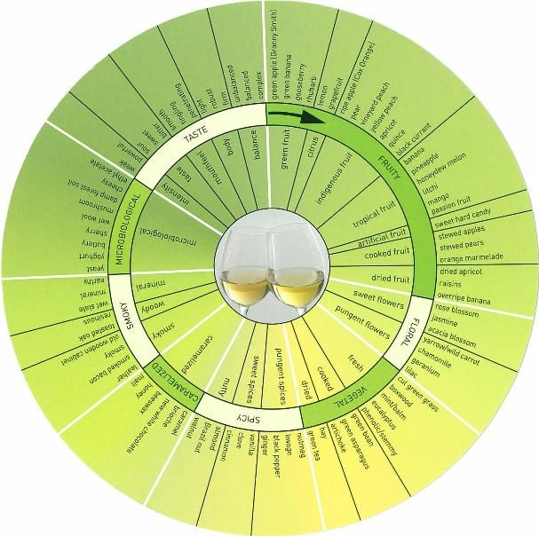 Alcoholic Science: White Wine & Red Wine Aroma Wheel