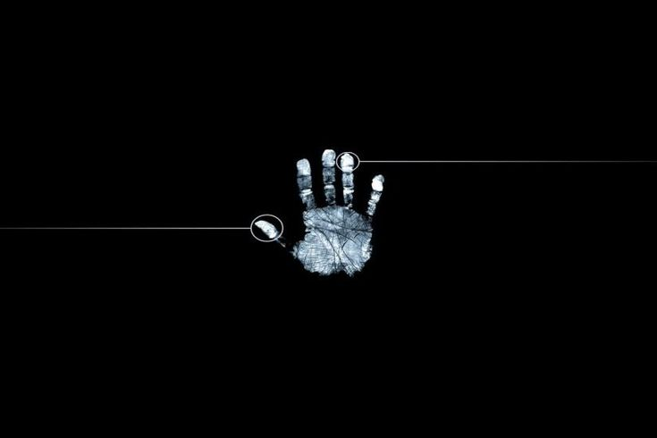 Wallpaper 1920x1080 fingerprint, hand, black white Full HD