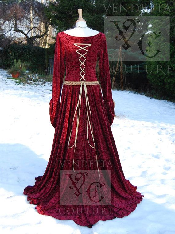 Medieval Gown Lotr Dress Celtic Pagan by VendettaCouture on Etsy