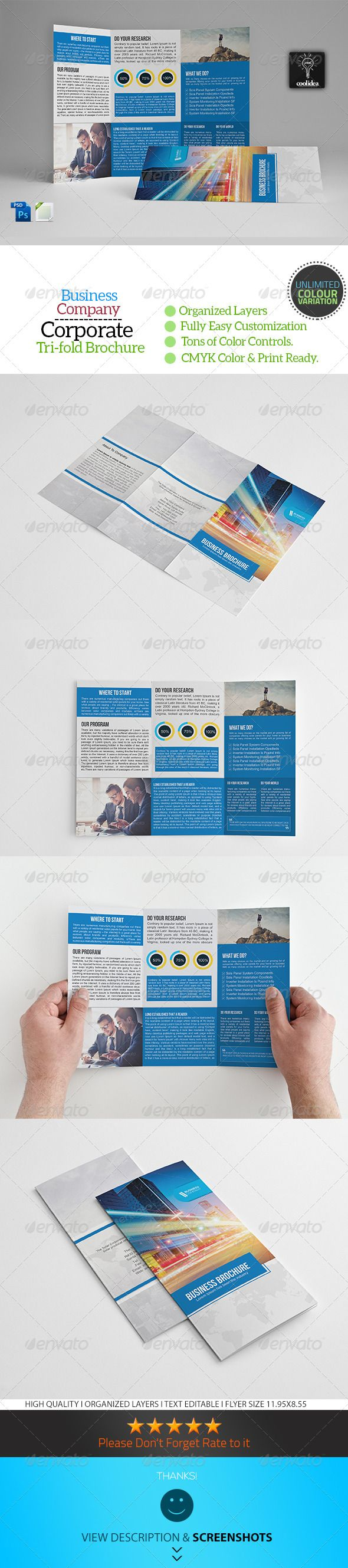 Best Trifold Brochure Template PSD Images On Pinterest - A4 tri fold brochure template