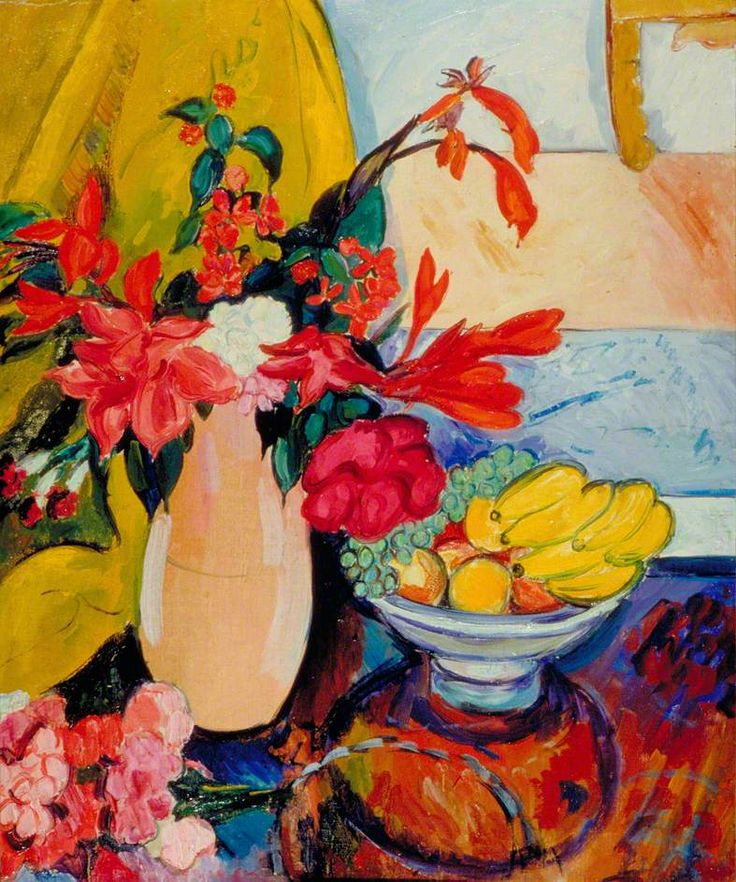'Fruit and Flowers' by Edward Wolfe, 1924