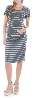 Shop Now - >  https://api.shopstyle.com/action/apiVisitRetailer?id=472771767&pid=uid6996-25233114-59 Women's Everly Grey 'Camila' Stripe Maternity Dress  ...