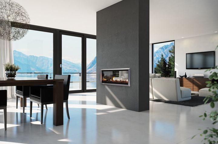 Two-sided fireplace design - Open Fireplace Designs to Warm Your Home