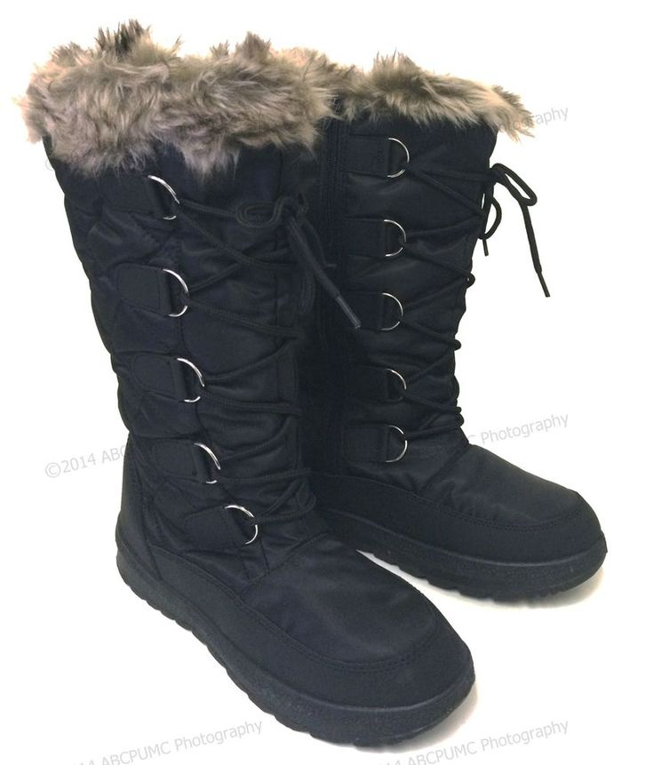 Women's Winter Boots Snow Fur Warm Insulated Waterproof Zipper Ski Shoes, Sizes #AA #SnowWinter
