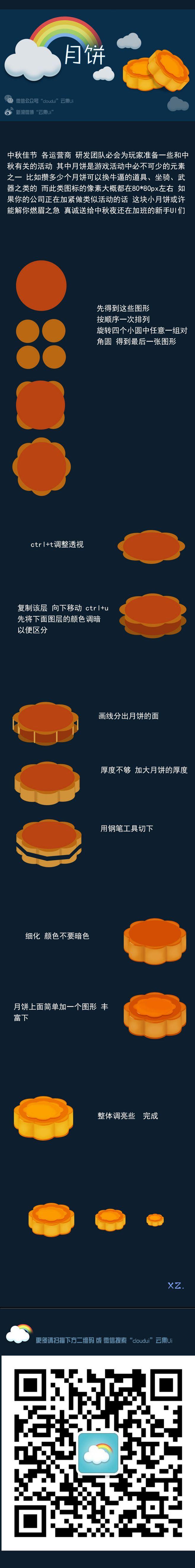 游戏ui教程图标月饼 交流QQ群 108...
