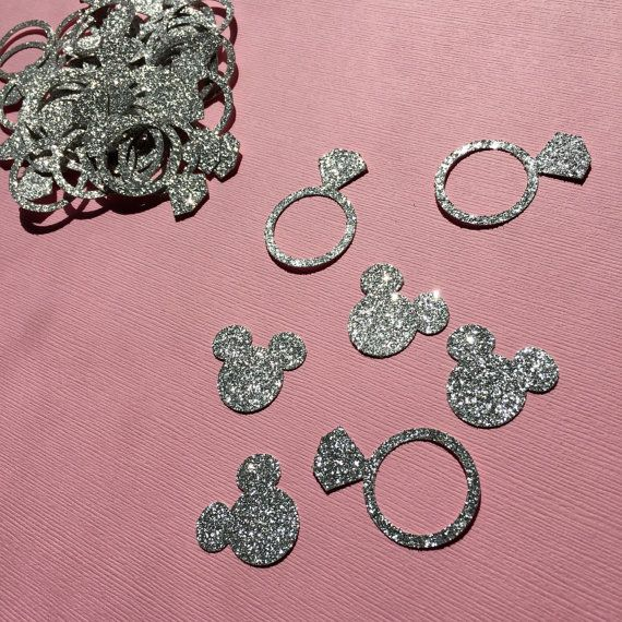 Minnie Mouse Wedding Confetti  Diamond Rings by GreatCrafternoon