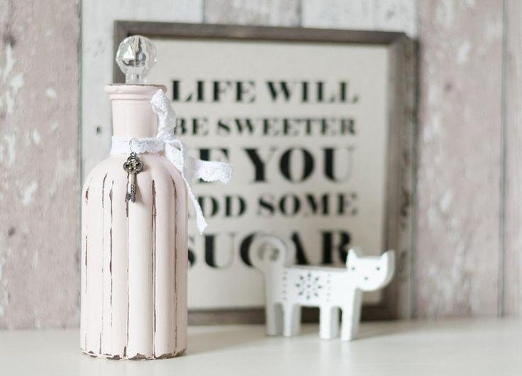 Schön Vase Flasche Glasvase Shabby Chic Vintage Deko Von Junikumo Auf DaWanda.com