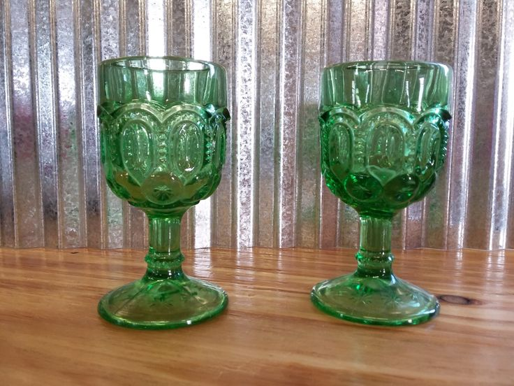 SET of Green Moon and Stars Cordial Glasses-LE Smith Moon and Star Glass-Green Smith Glass-LG Wright Glass-Vintage Green Moon and Star Glass by FlyoverFarmFinds on Etsy https://www.etsy.com/listing/487656771/set-of-green-moon-and-stars-cordial