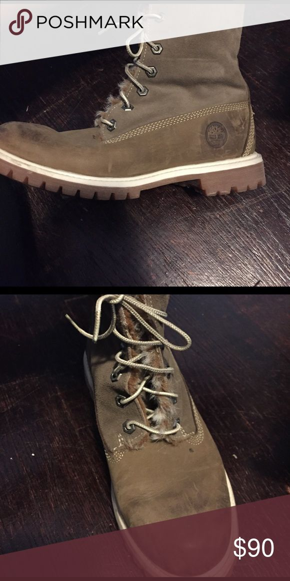 Timberland boots! Size 8! Hi everyone! These are a size 8 in women's. they've been worn a couple of times. They have fur inside very warm. The price can be negotiated Timberland Shoes Winter & Rain Boots