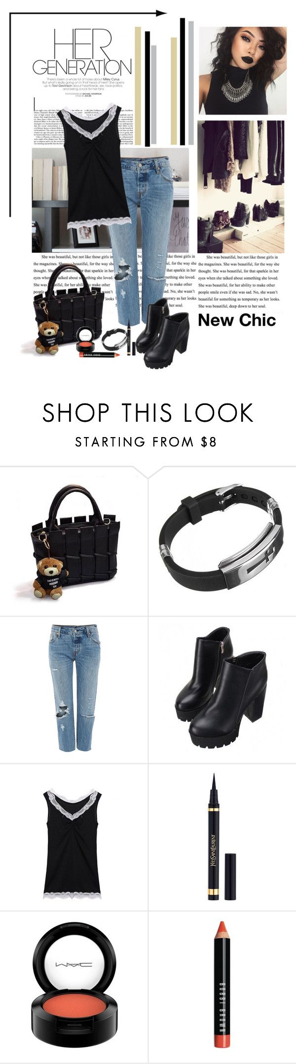 """Hanging out"" by polybaby ❤ liked on Polyvore featuring NAJ, Levi's, MAC Cosmetics and Bobbi Brown Cosmetics"