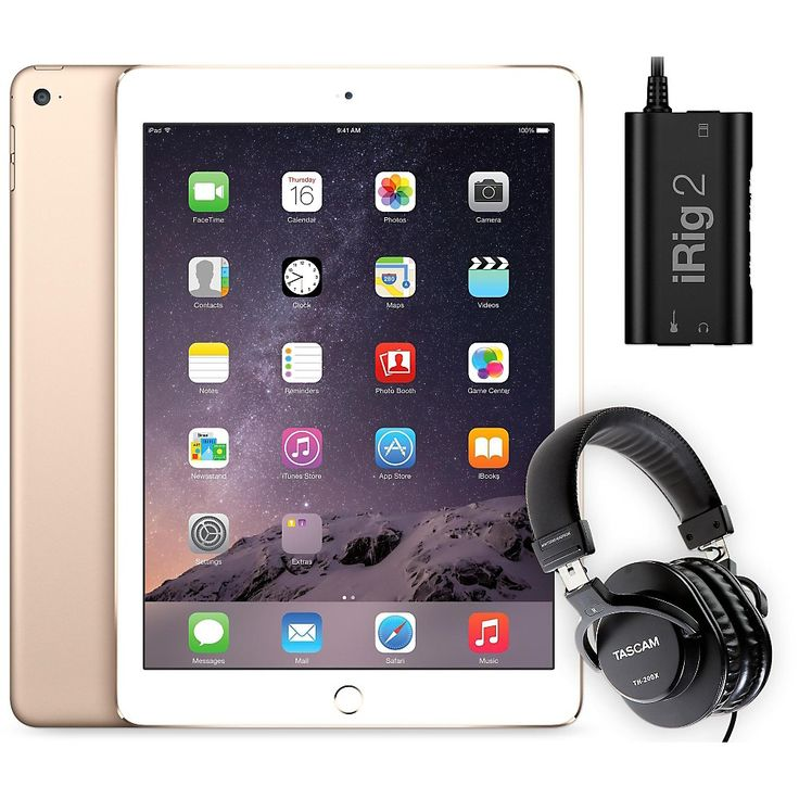 Apple iPad Air 2 MH182LL/A with iRig 2 and TH-200X Headphones