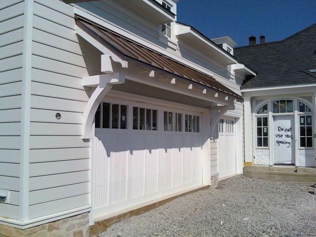 Option for over garage doors: Fantastic Garage, Barn Doors, Garage Lov, Barns Doors, Classy Garage, Doors Overhang, Garage Doors Nic, Foursquare Garage, Exposed Wood