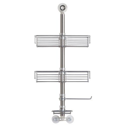 Bathroom Organization: InterDesign Forma Bathroom Shower Caddy Station for Shampoo, Conditioner, Soap - Brushed Stainless Steel ** Click image for more details.