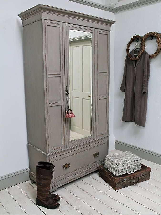 distressed edwardian mirror door wardrobe by distressed but not forsaken | notonthehighstreet.com