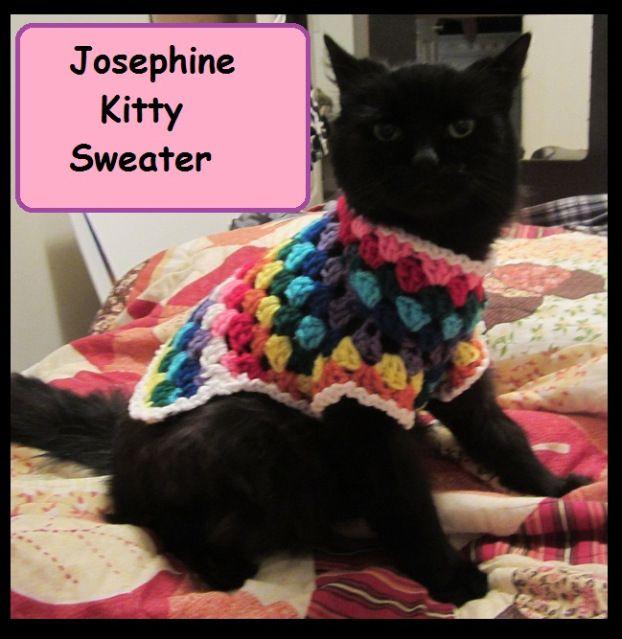 Free Crochet Pattern Cat Sweater : Josephine Kitty Sweater. Free crochet pattern. Kitty, cat ...