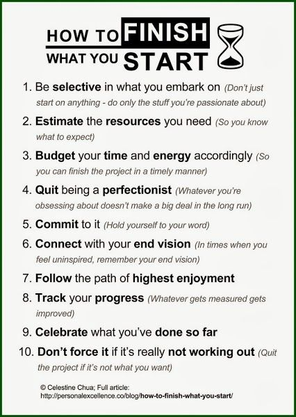 how to finish what you start   #goalsetting and #KPI Experts Follow us now on Twitter @jamsovaluesmart and see the latest news on http://www.jamsovaluesmarter.com