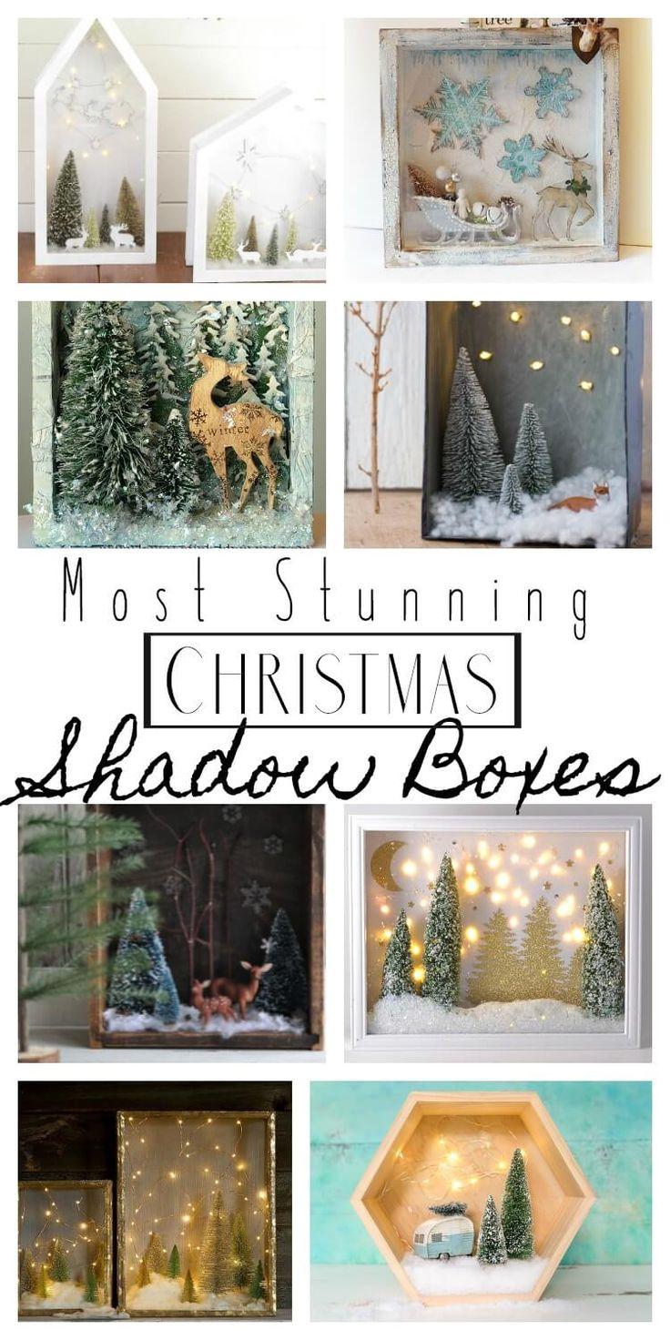 best 25 christmas shadow boxes ideas on pinterest diy. Black Bedroom Furniture Sets. Home Design Ideas