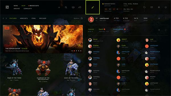 DOTA 2 - Interface Redesign on Behance