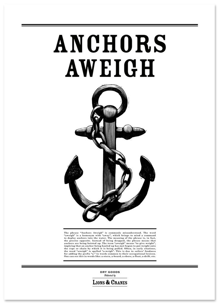 Poster Anchors Aweigh Big via Lions
