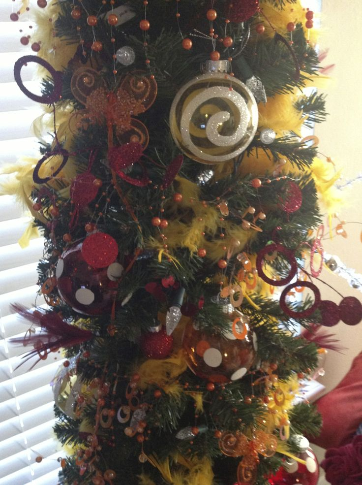 17 best images about pencil christmas trees on pinterest for Red and yellow christmas tree