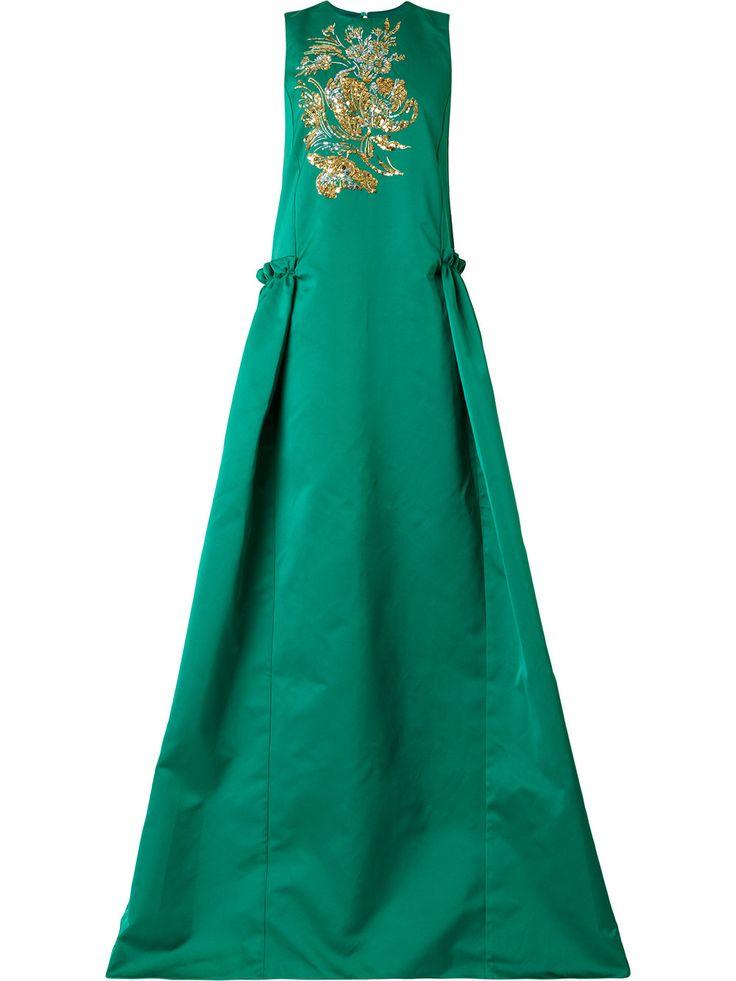 Rochas платье с вышивкой пайетками