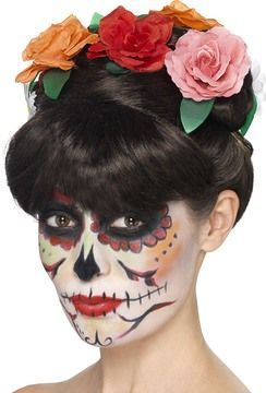 Parykker - De dødes dag – Frida-parykk,