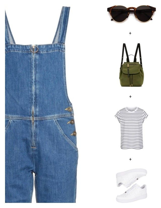 """Dungarees"" by sharmarie ❤ liked on Polyvore featuring M.i.h Jeans, NIKE, Marc Jacobs and RetroSuperFuture"