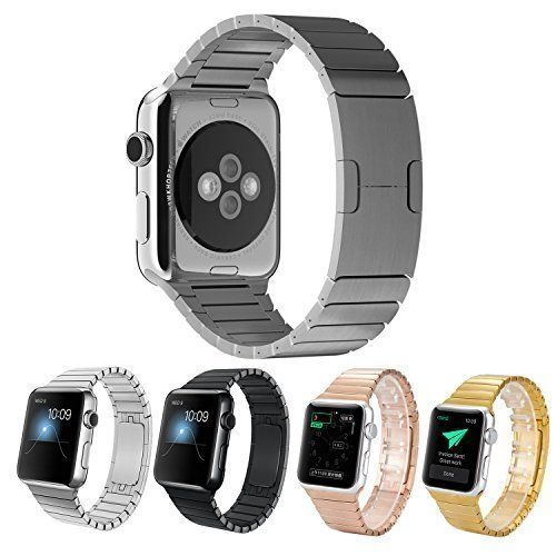 Surwin 42 mm Apple Watch Armband aus Edelstahl Butterfly Verschluss Ersatzband für iWatch alle Versionen - Silber - http://uhr.haus/surwin/surwin-38-mm-42-mm-apple-watch-armband-edelstahl-f-r