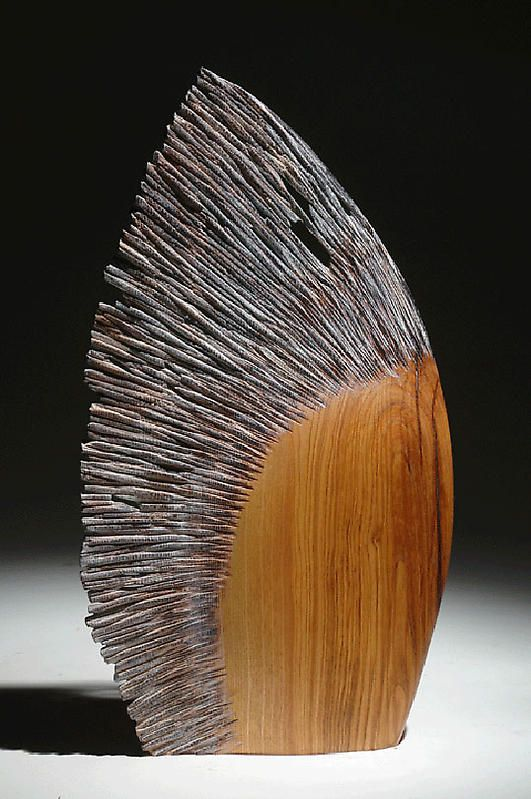 "Christophe Nancey ~ ""Le Vent"" ~ Wood Sculpture ⛱⛱More Pins Like This At FOSTERGINGER @ Pinterest⛱⛱"