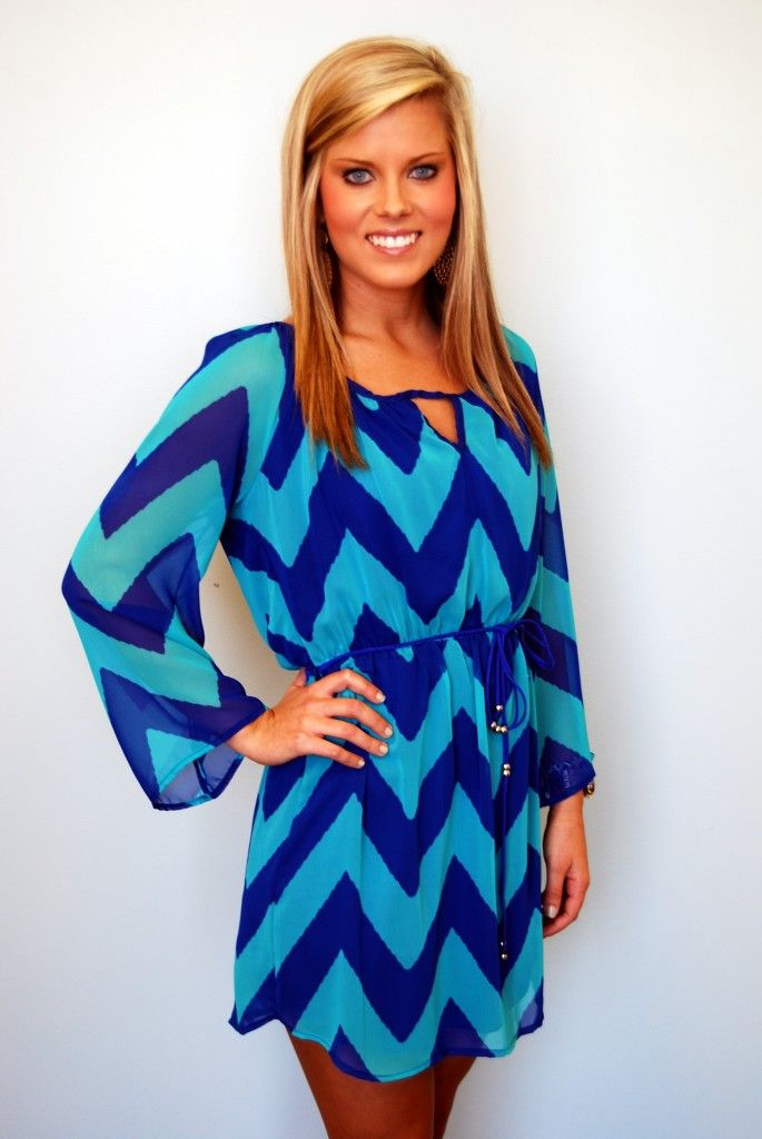 The color and flow of this dress is amazing. Plus, you need to add chevron prints to your wardrobe this season!