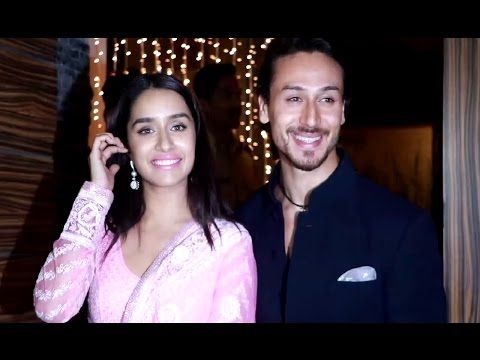 Shraddha Kapoor & Tiger Shroff at Aamir Khan's house for Diwali Party 2016.