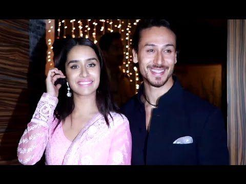 Shraddha Kapoor & Tiger Shroff at Aamir Khan's house for Diwali Party 2016.