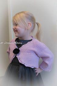 Knitted bolero from drops baby merino yarn.
